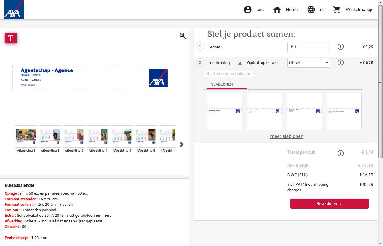 B2B Webshop met productpersonalisatie editor